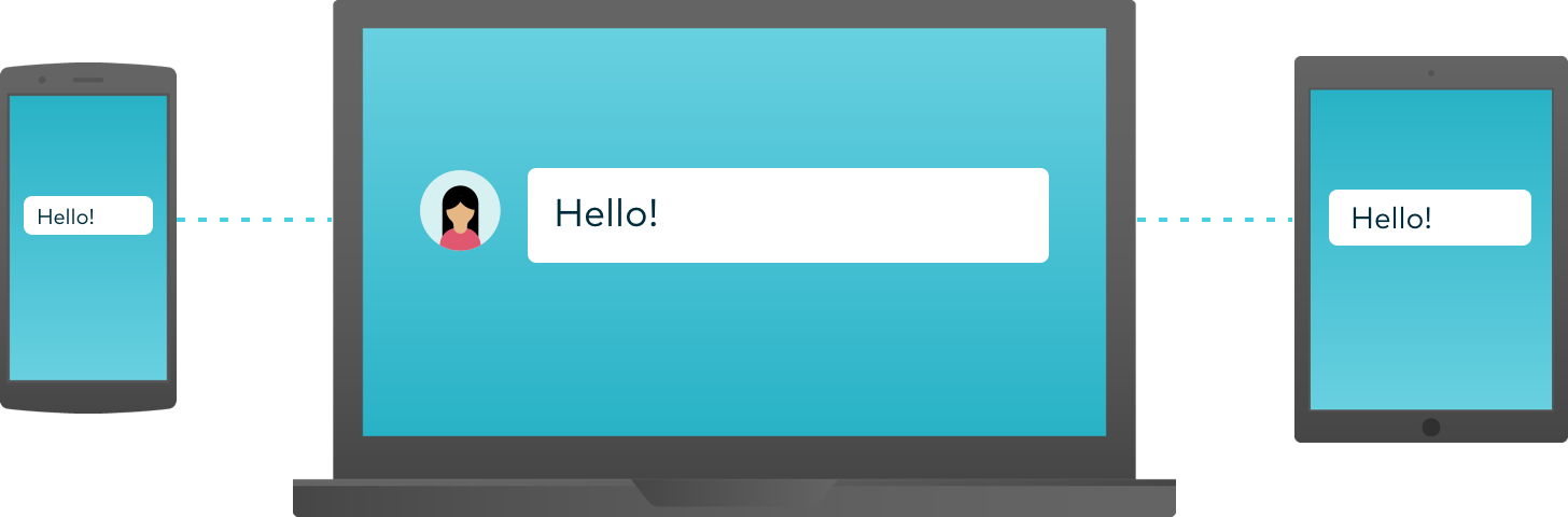 Dialpad routes messages to all of your devices.