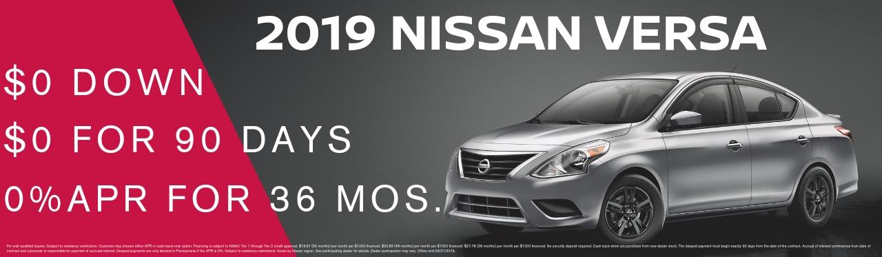 new Nissan Versa Sedan