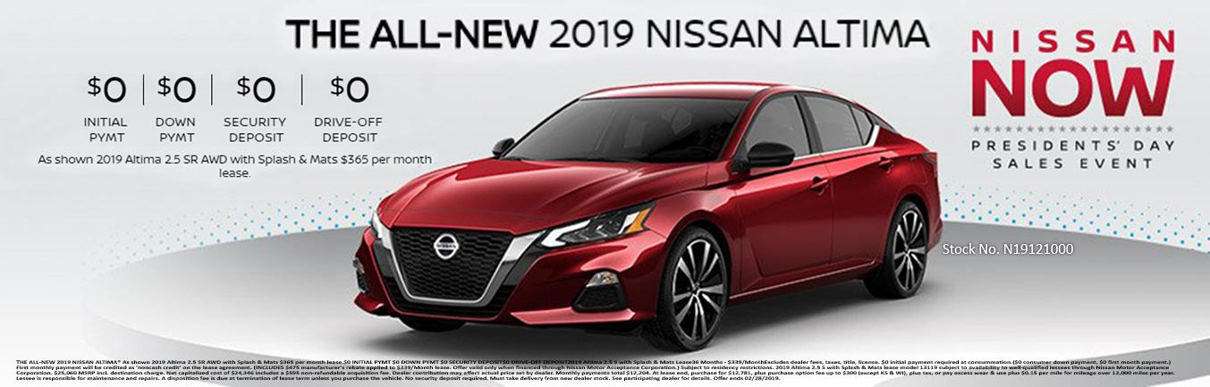 Nissan Altima Incentive
