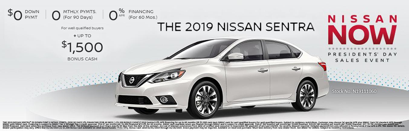 Nissan Sentra Incentive