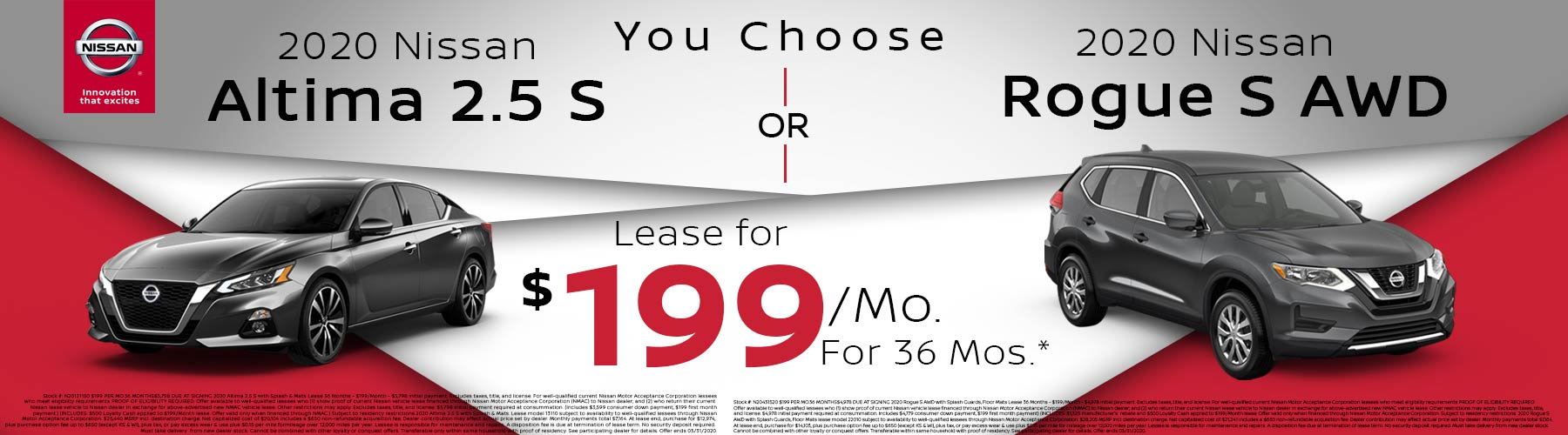Altima and Rogue Lease Offer