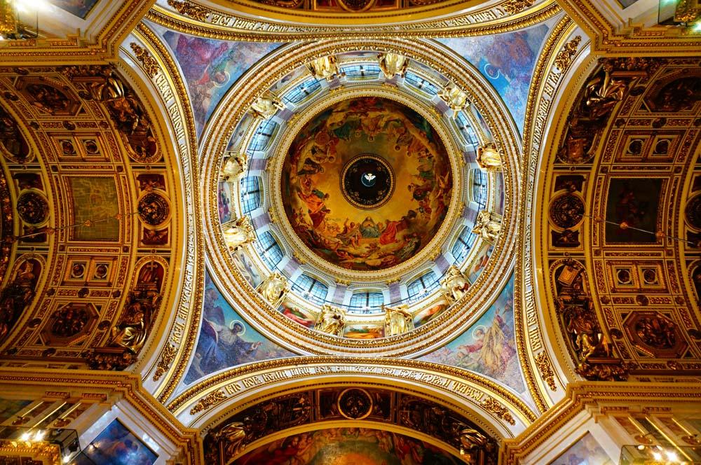 이삭 성당의 내부. 으리으리하다.
