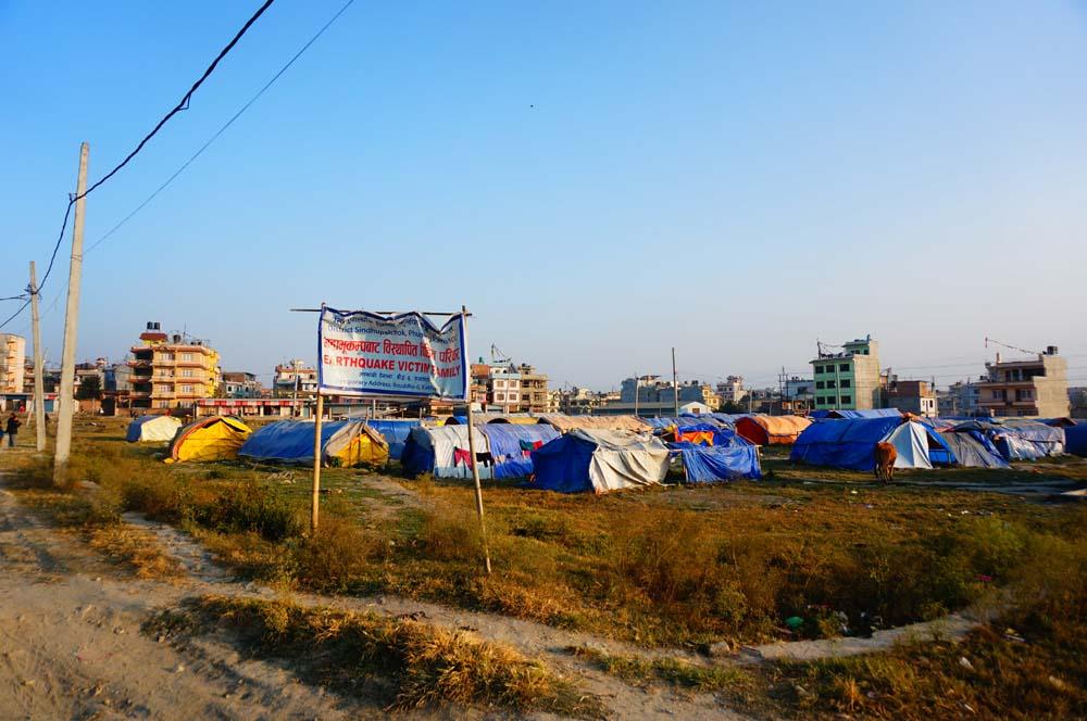 카라니의 가족이 살고 있던 지진 피난민 캠프