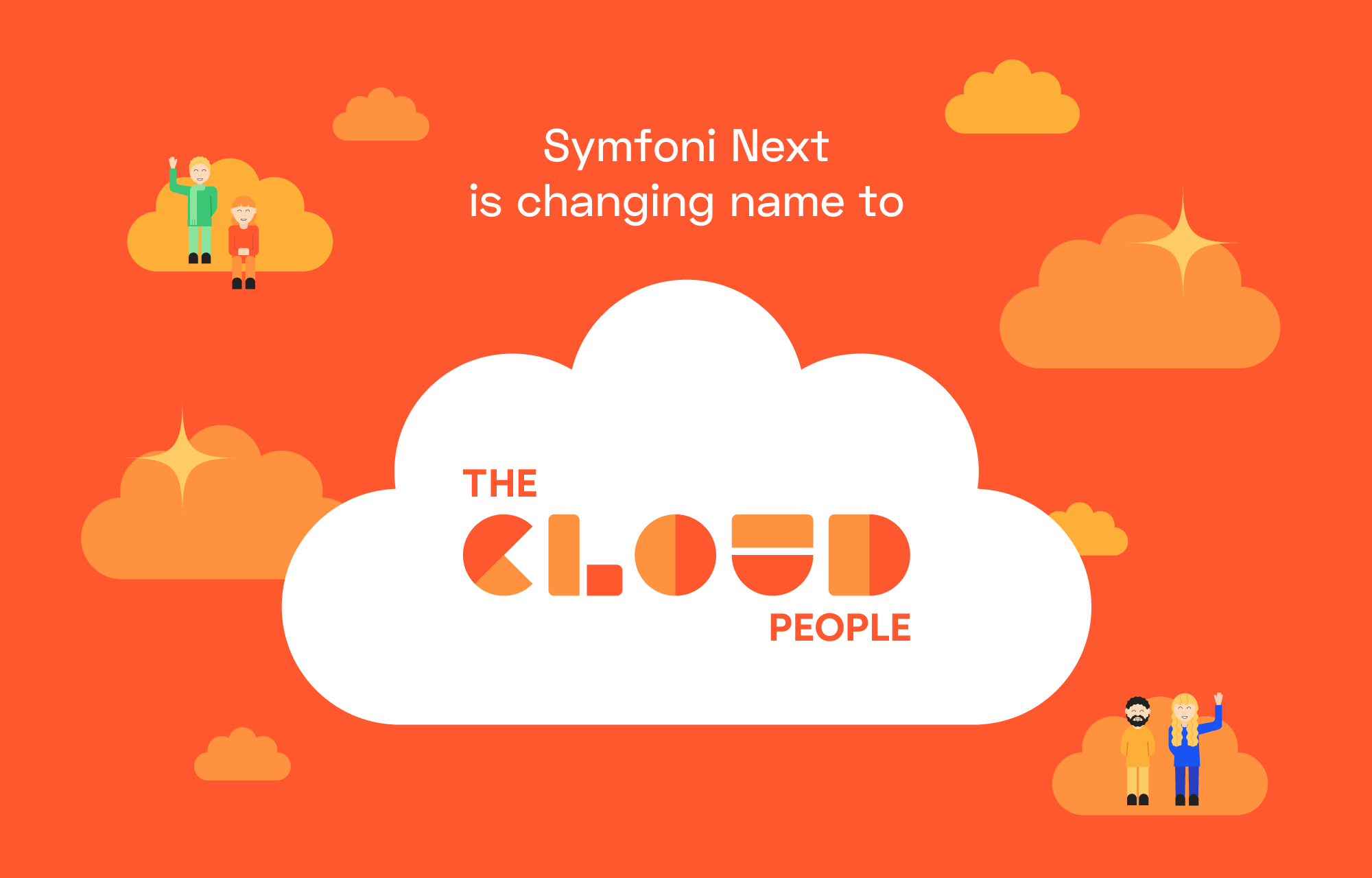 The Cloud People-logoen i en sky.