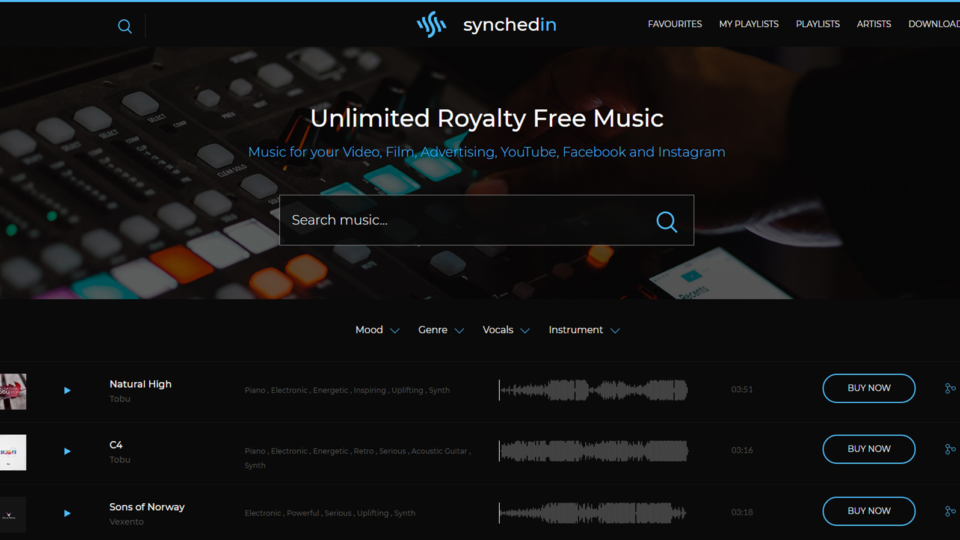 Welcome to Synchedin – Music Licensing Subscription Service for Creators Worldwide