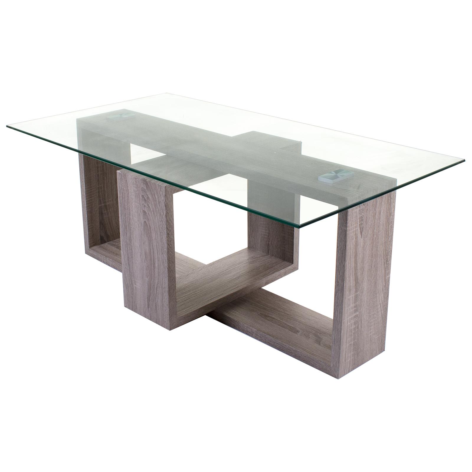 Picture of: Modern Rectangular Glass Wood Living Room Coffee Table Furniture Designer Marko Ebay