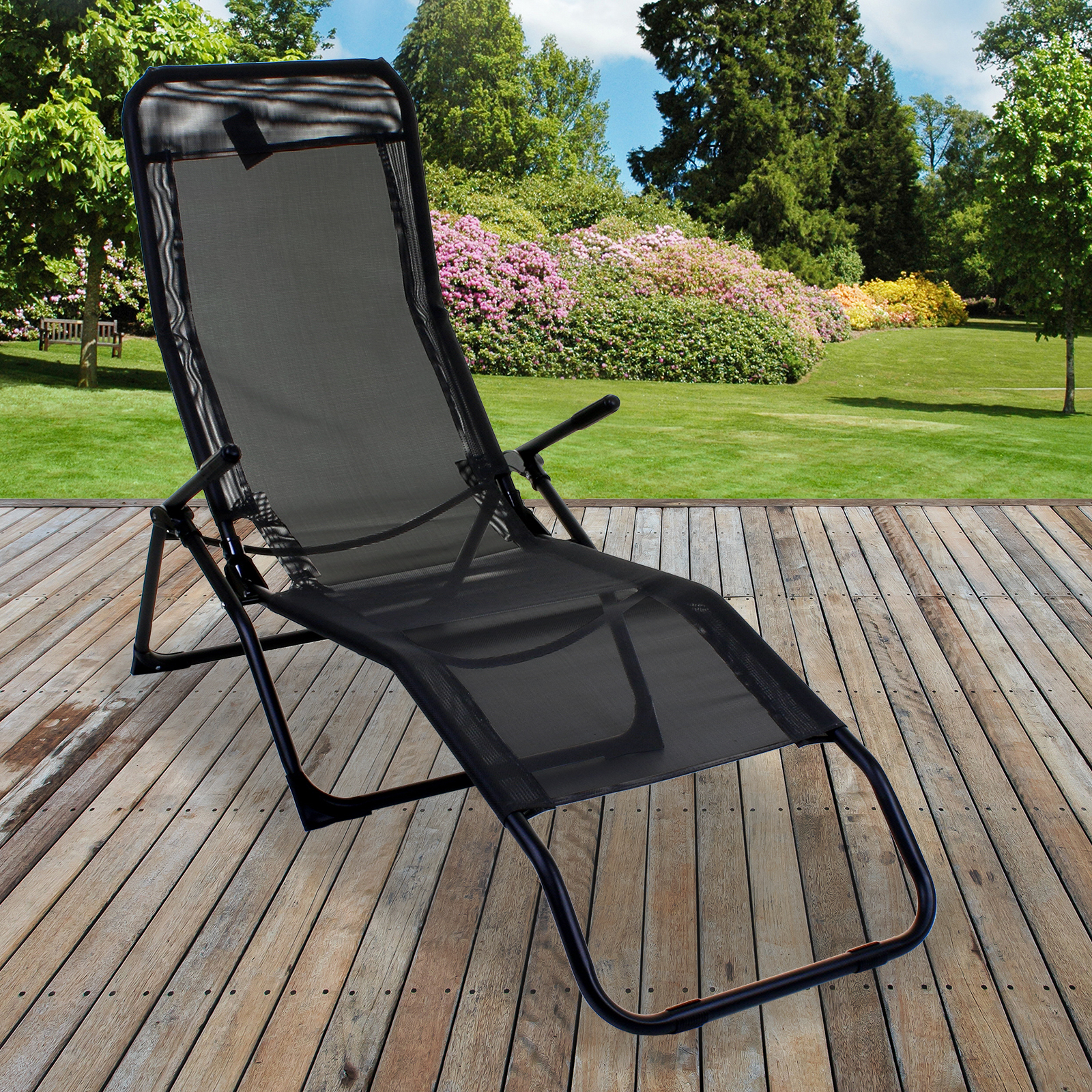 11x Marko Sun Lounger Go Flat Reclining Garden Outdoor Patio
