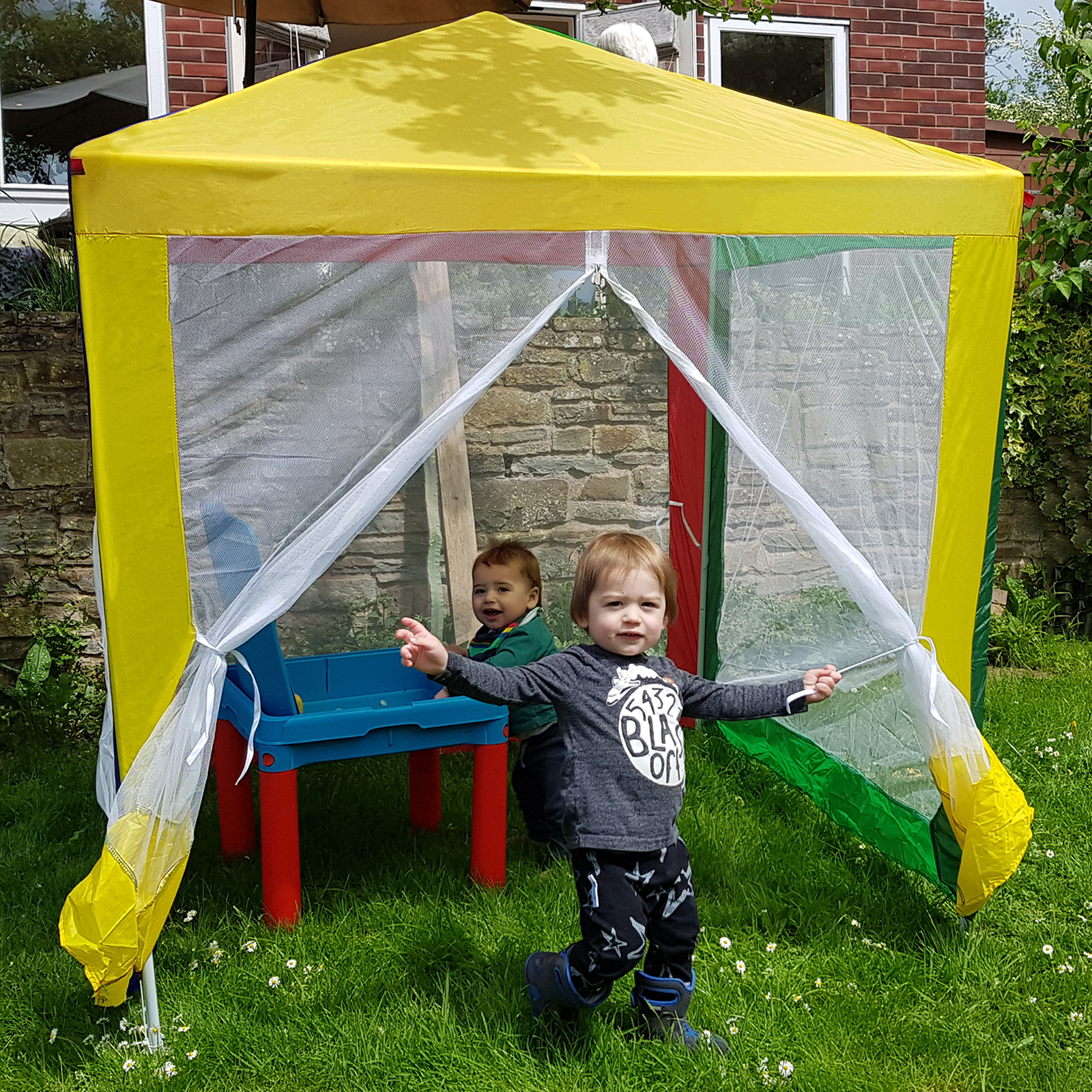 Details about Kids Gazebo Outdoor Garden Multi Colour Childrens Marquee Tent Sun Shade Beach