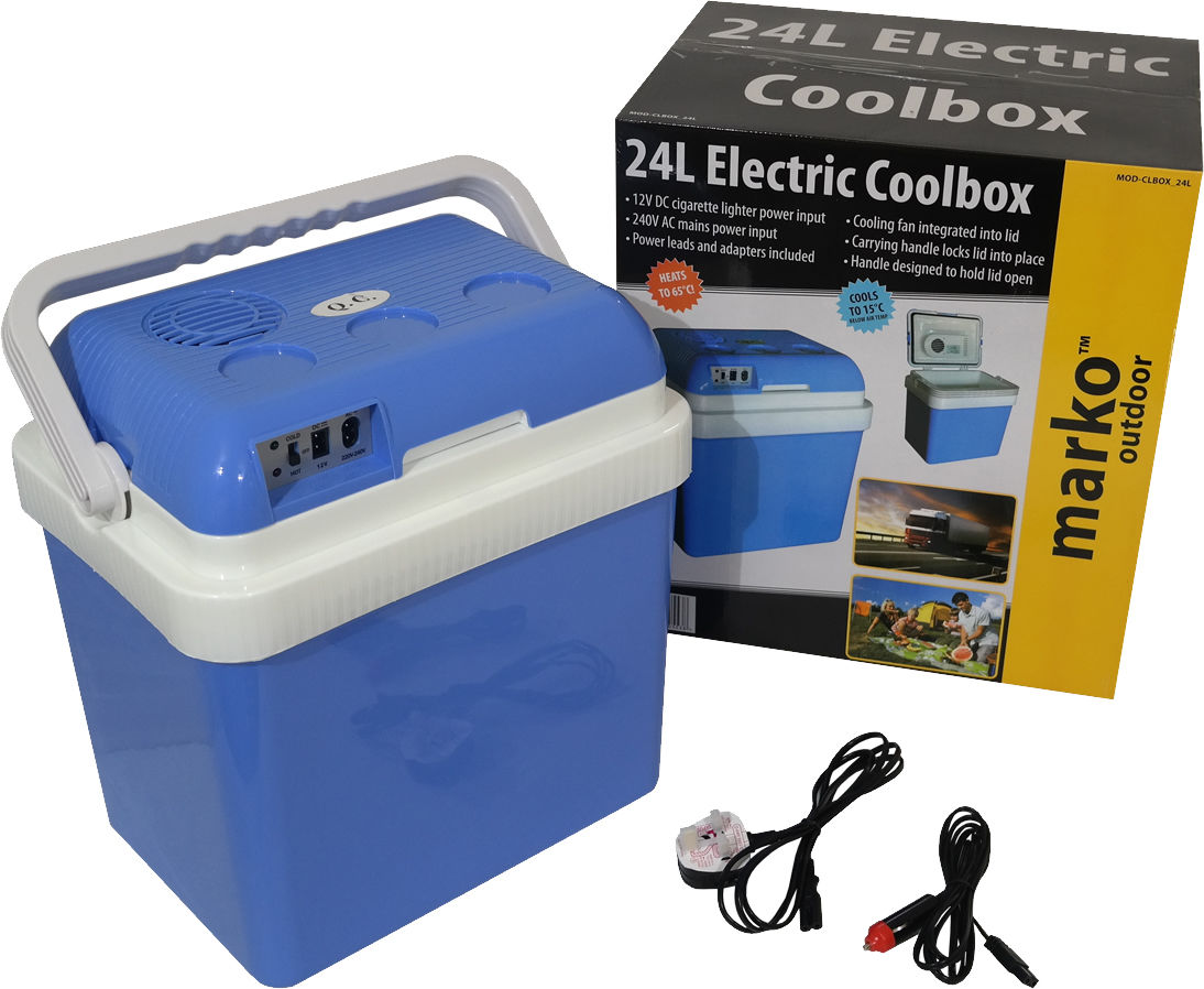 715e097cb1e Details about 24L Coolbox Cold Or Hot Cool Box Portable Electric Car Van  Home 12V DC   240V AC