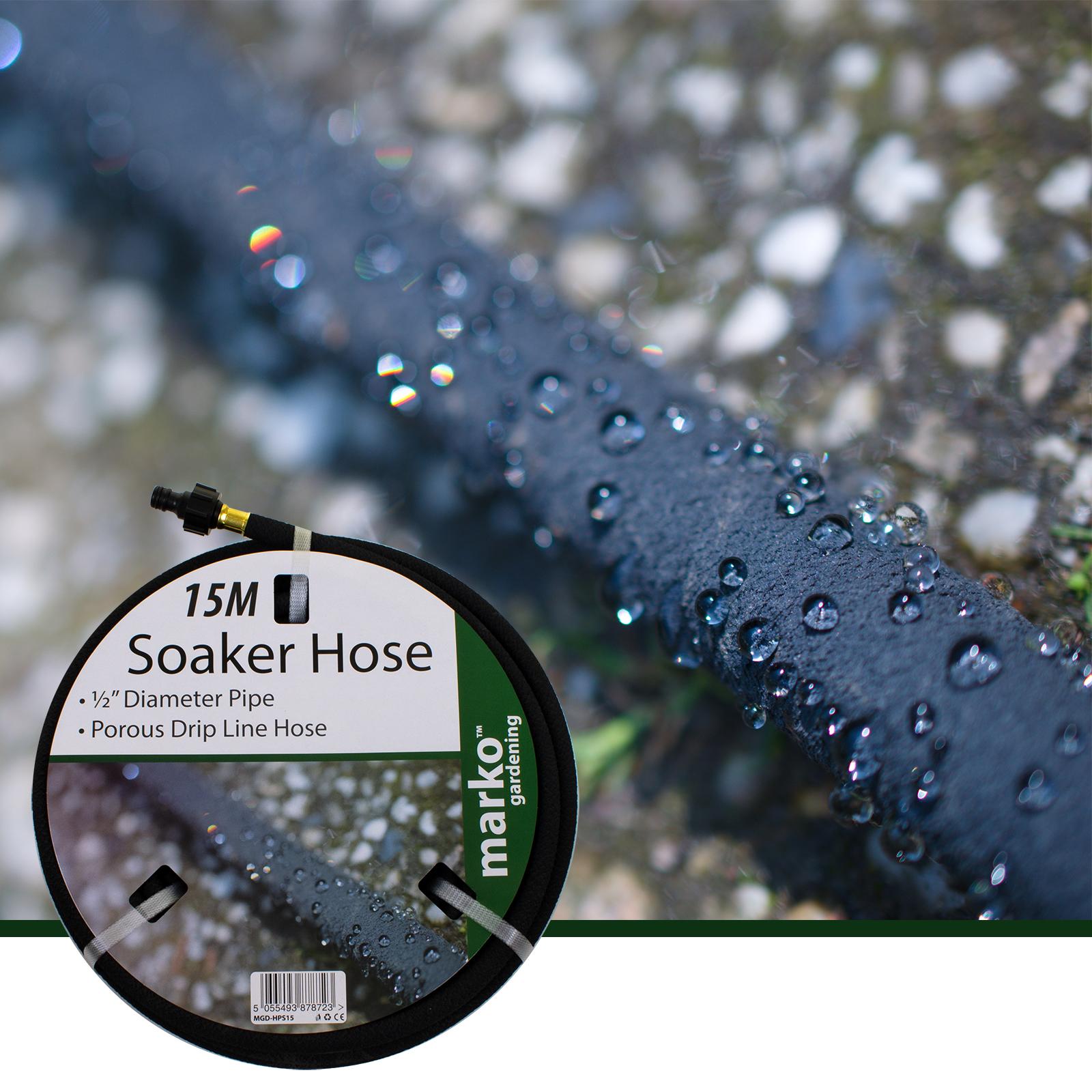 15m Soaker Hose Water Lawn Garden Plant