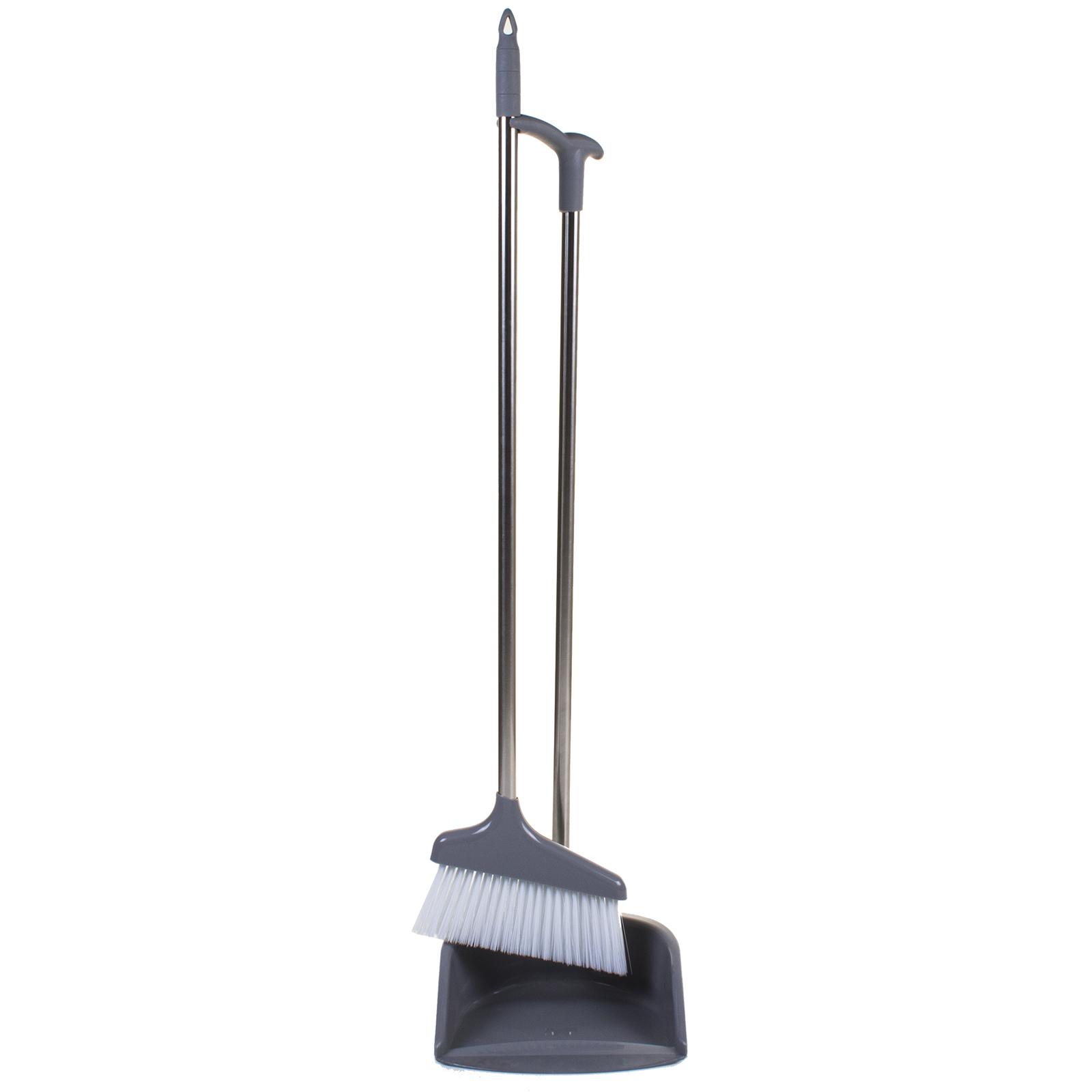 DUSTPAN AND BRUSH SET BLUE LONG HANDLED FLOOR CLEANER SWEEPING BROOM DUST PAN