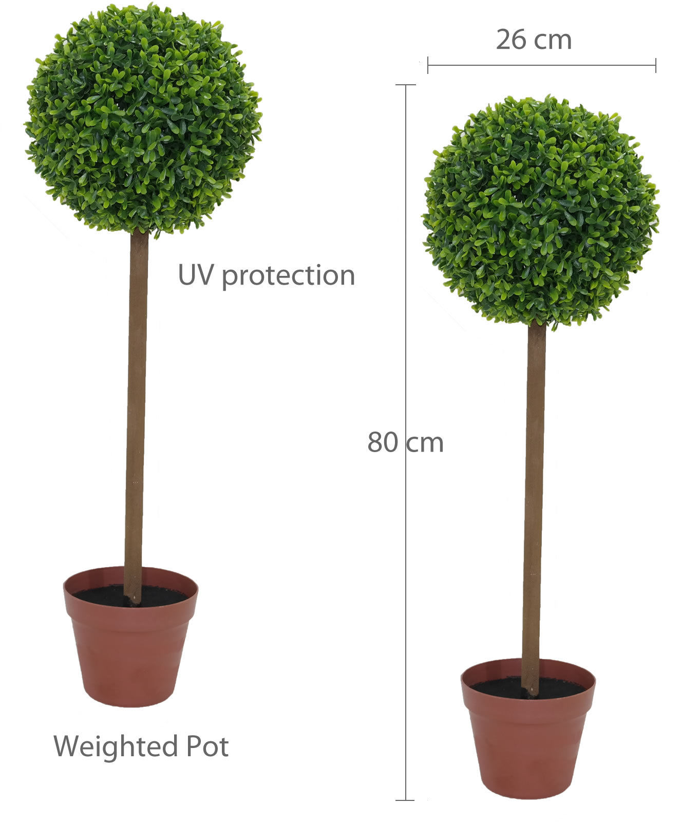 Box Wood Artificial Topiary Tree Indoor Outdoor Decoration Home Office Plant 5055493832879 Ebay