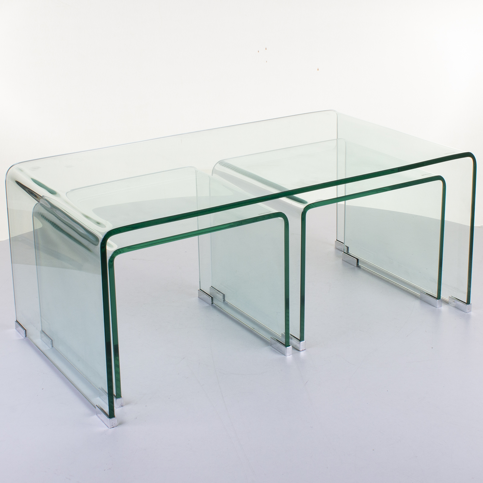 Curved Glass Tables Coffee Dining Console Furniture Bent Single Piece Modern New Ebay [ 1600 x 1600 Pixel ]