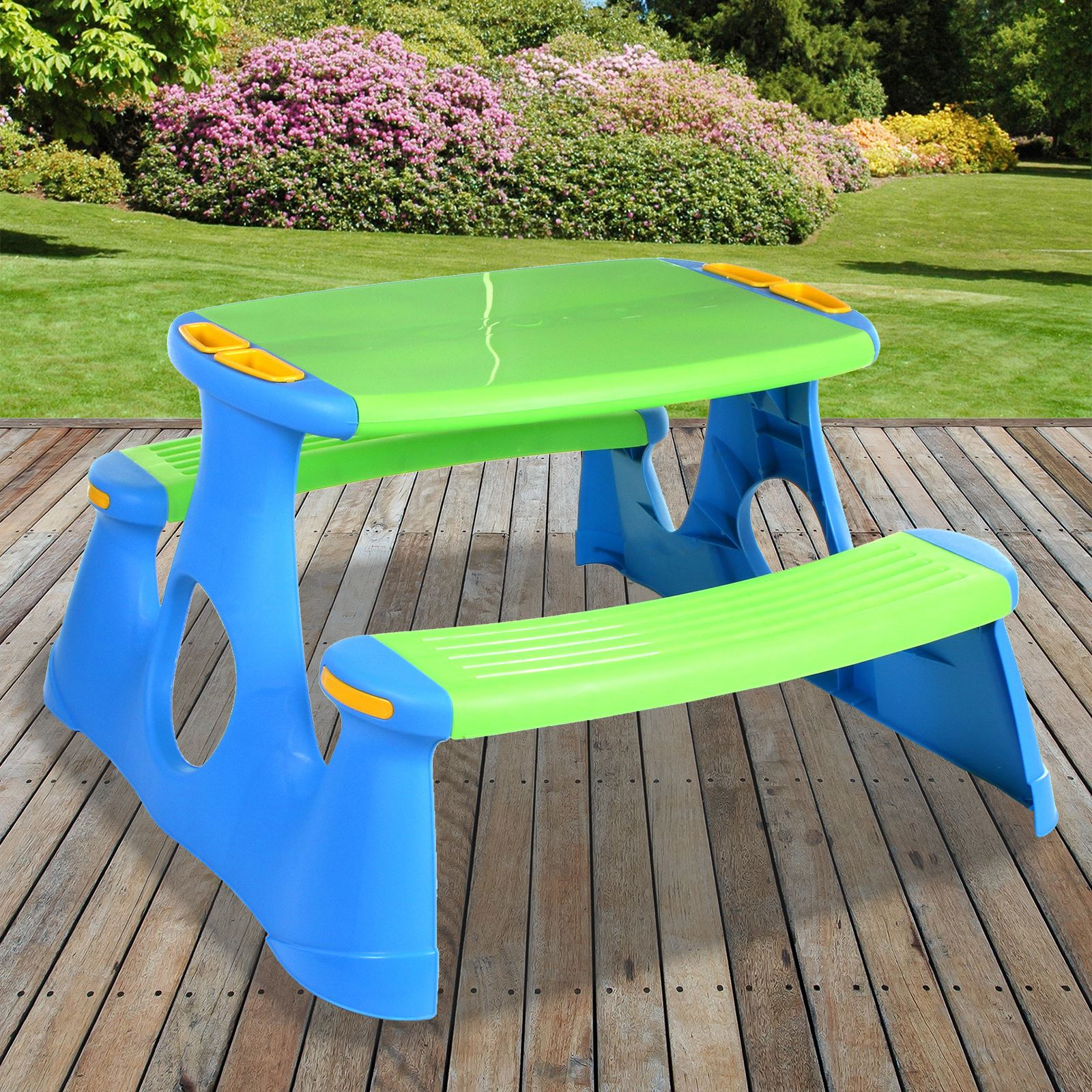 Details about Large Kids Childrens Picnic Bench Table Outdoor Garden  Furniture Patio Barbecue