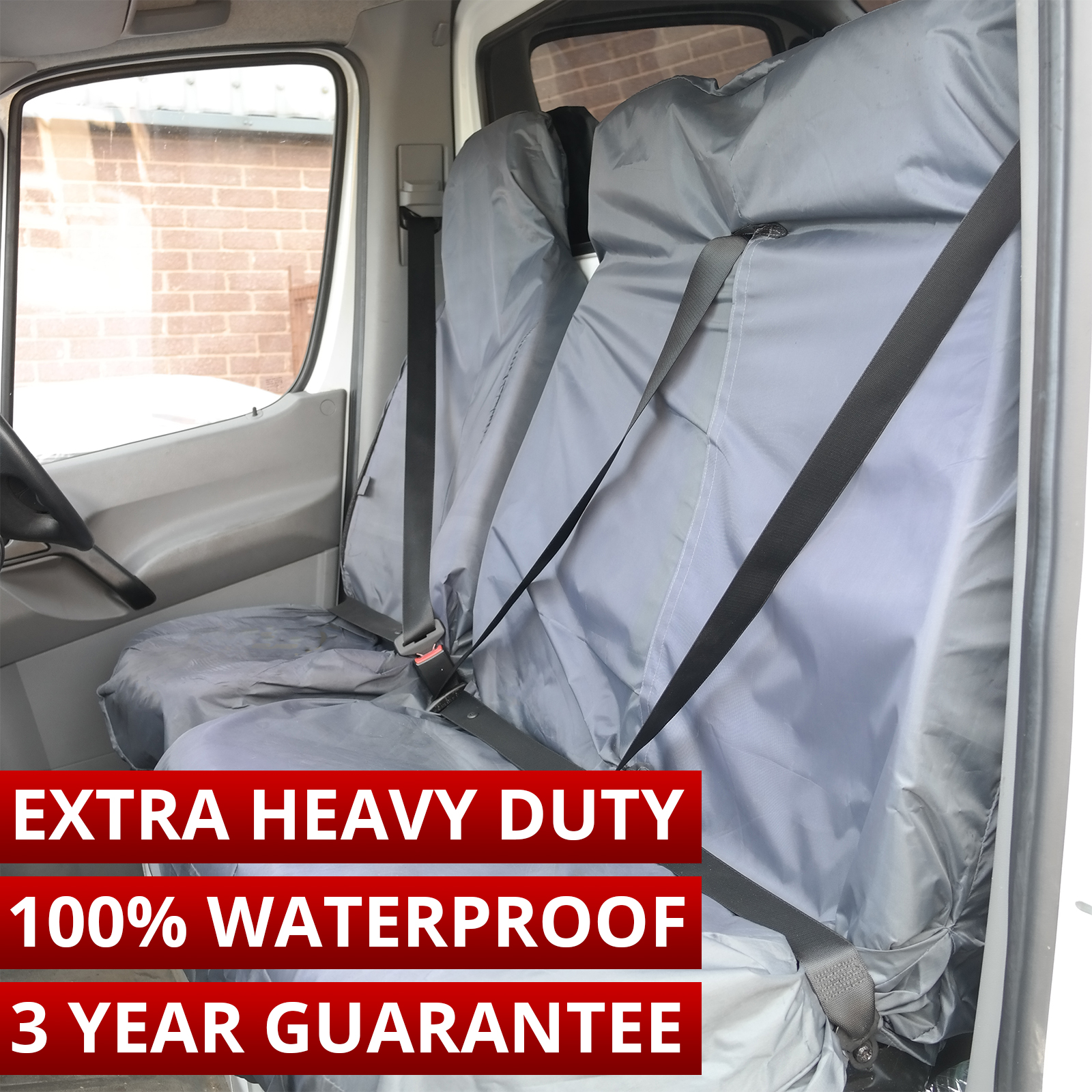 VAUXHALL VIVARO SWB MWB LWB HEAVY DUTY WATERPROOF BLACK SINGLE VAN SEAT COVER