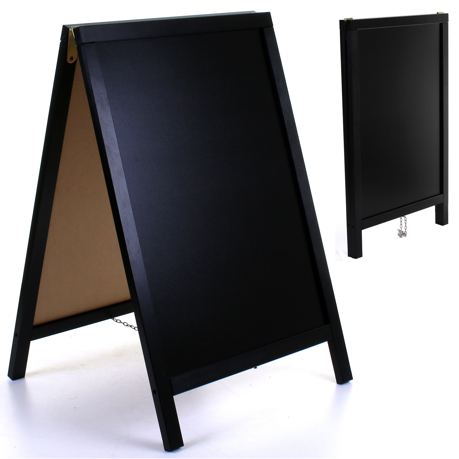 Wooden Chalk Board Blackboard Sign A-Board Pavement Pub Shop Cafe Display Stand