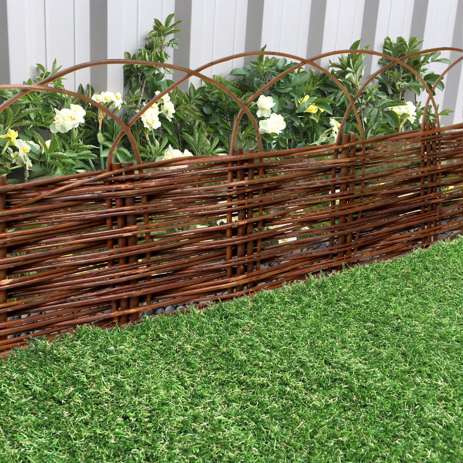 200 x 30cm Willow Lawn  Attractive Edging for Beds Borders Paths Natural Bamboo