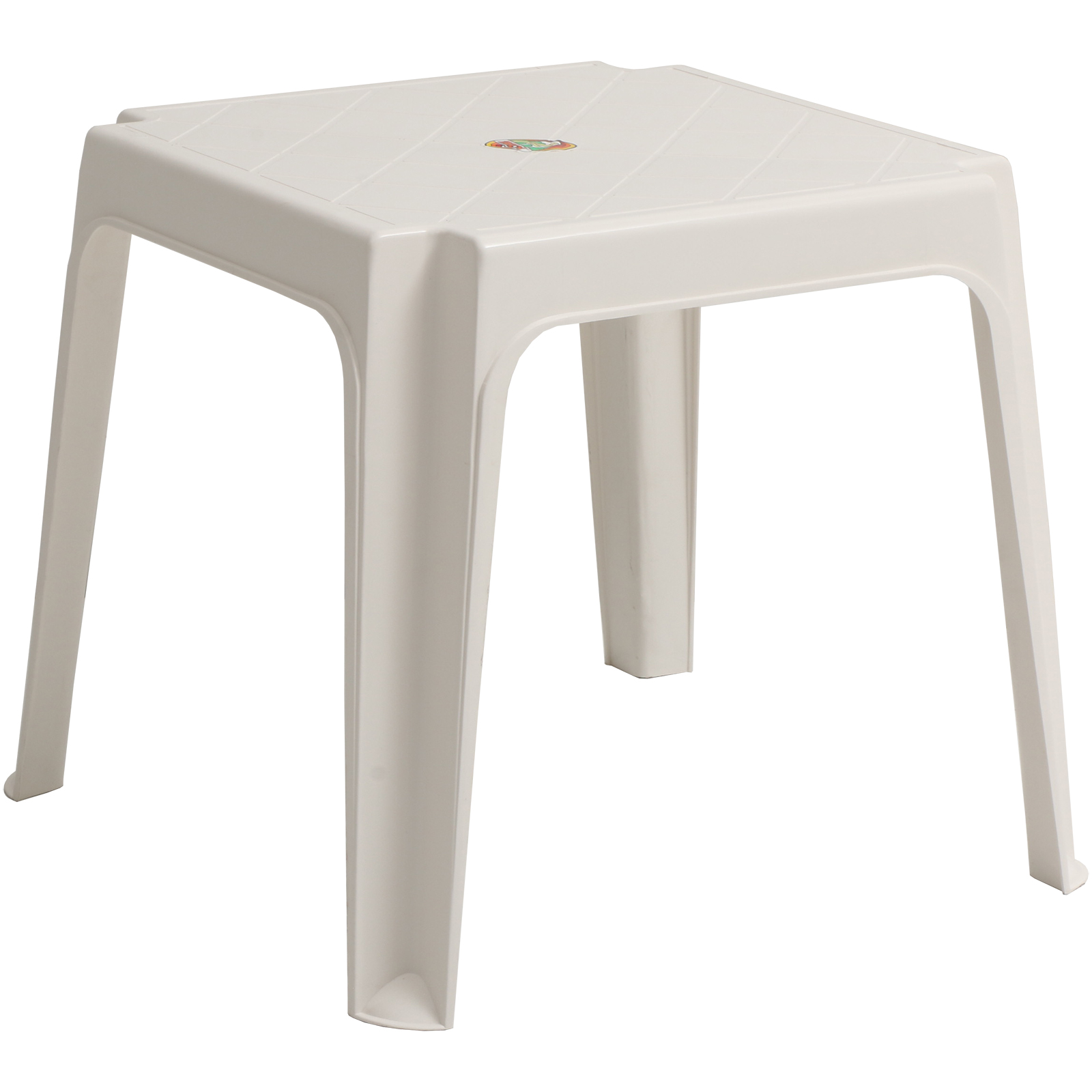 Details about Sun Lounger Side Coffee Table White Plastic Outdoor Garden  Patio Furniture Stool