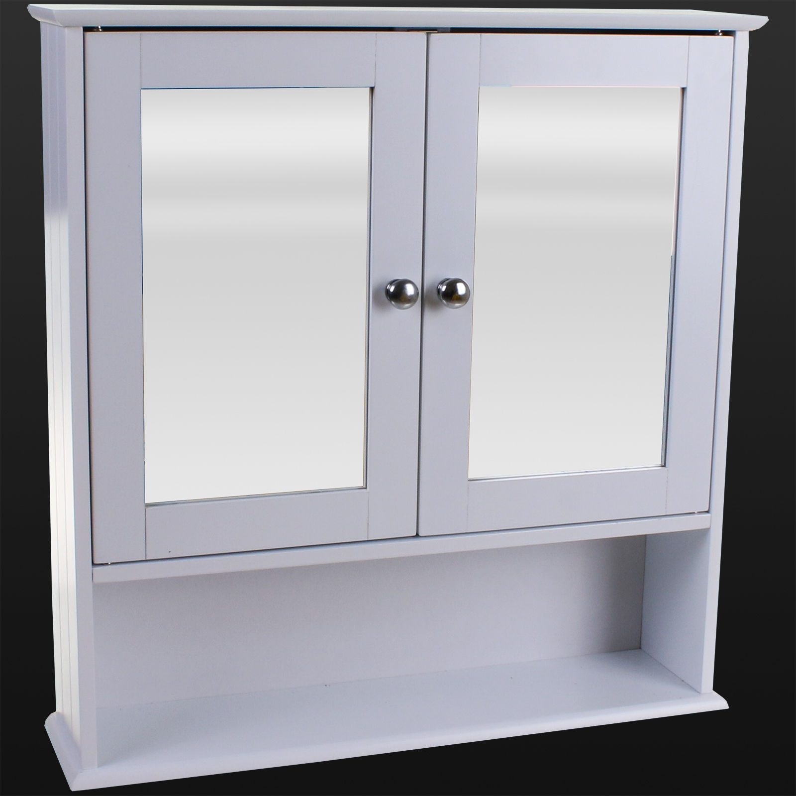 Bathroom Storage Unit Cabinet White Shelves Glass Under Sink Basin