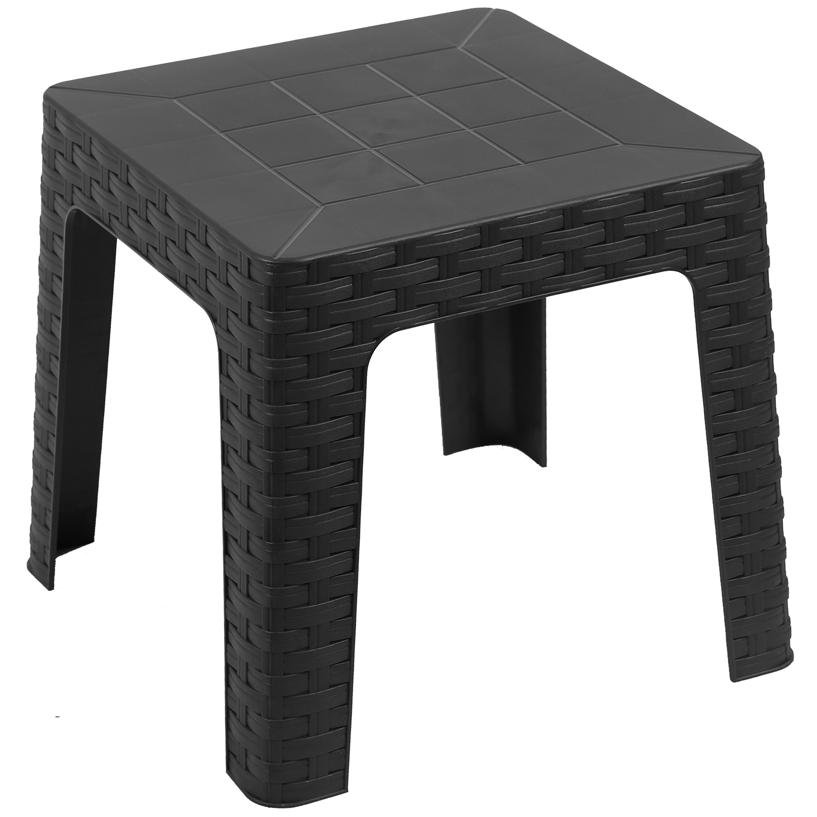 Details about Sun Lounger Side Coffee Table Grey Plastic Rattan Outdoor  Garden Patio Furniture