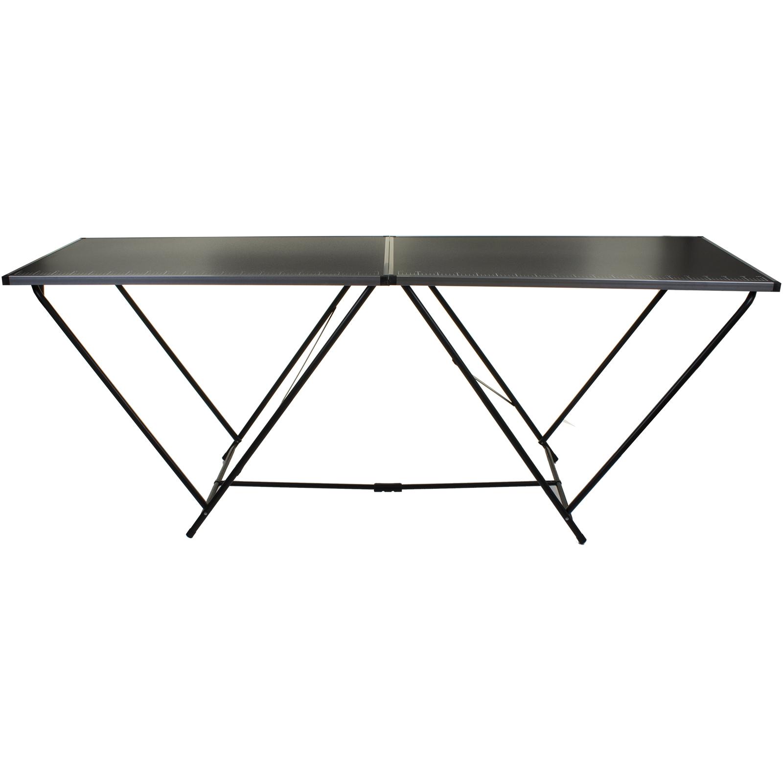 2m Wallpaper Pasting Table Folding Easy Carry Black Aluminium Diy Decorating New 5055493858176 Ebay