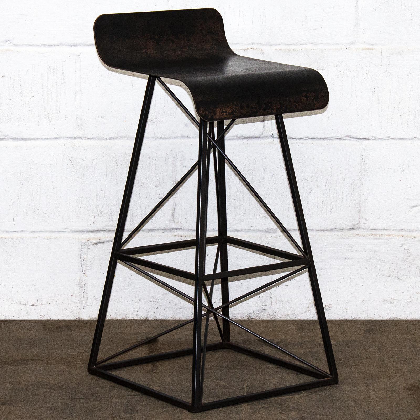 Sensational Details About Metal Bar Stool Rustic Vintage Seat Industrial Retro Seating Breakfast Chair Ibusinesslaw Wood Chair Design Ideas Ibusinesslaworg