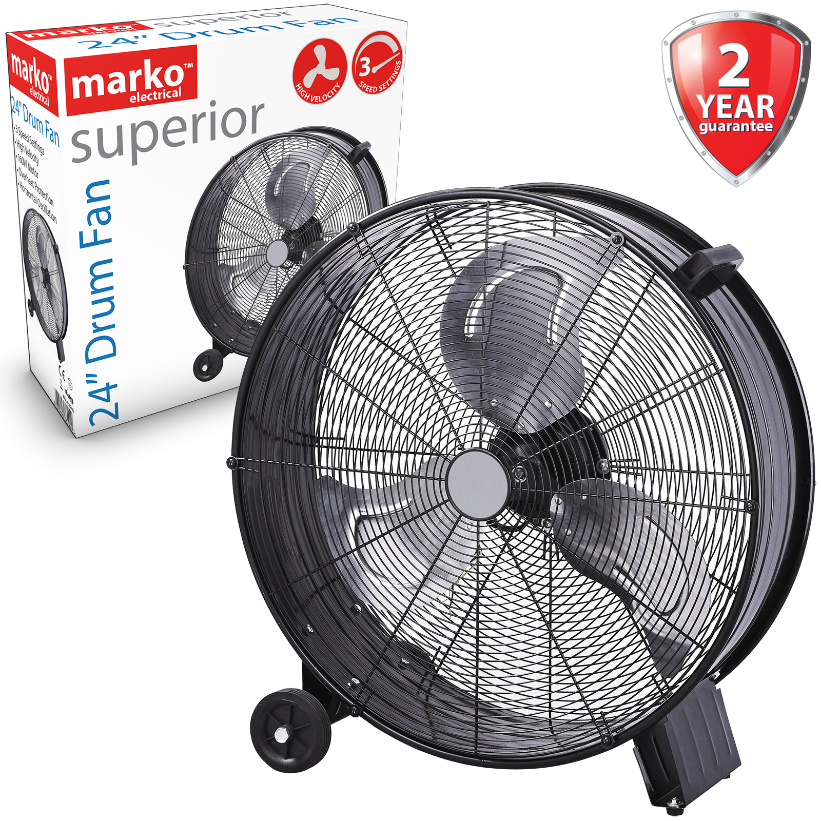 9Inch Pedestal Oscillating Stand Fan Desk Electric Tower Standing Home Powerful