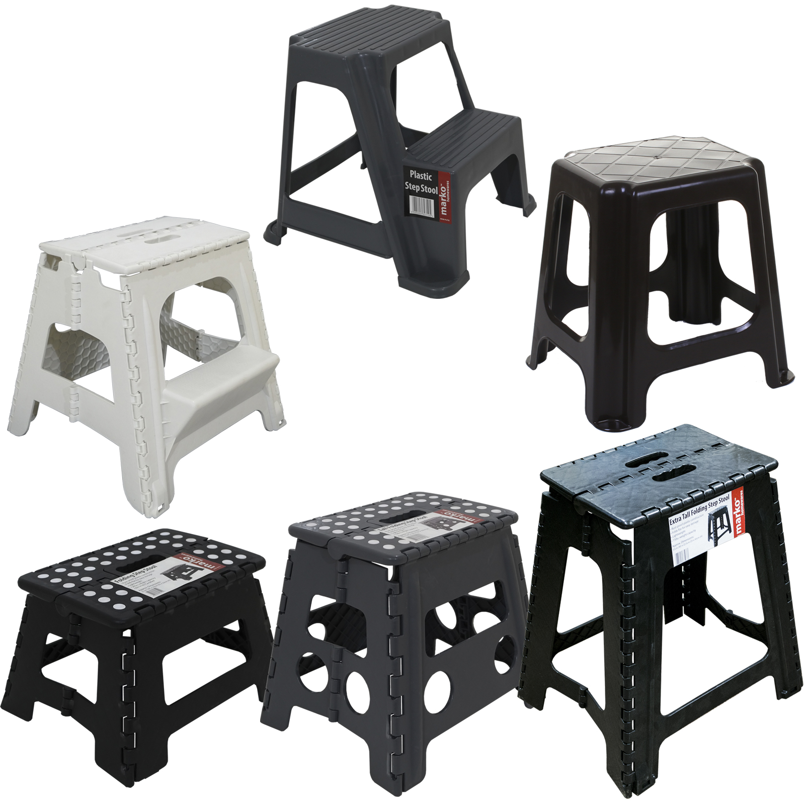 Phenomenal Details About Plastic Folding Step Up Stool Heavy Duty 2 Step Stool Multi Purpose Caravan Home Cjindustries Chair Design For Home Cjindustriesco