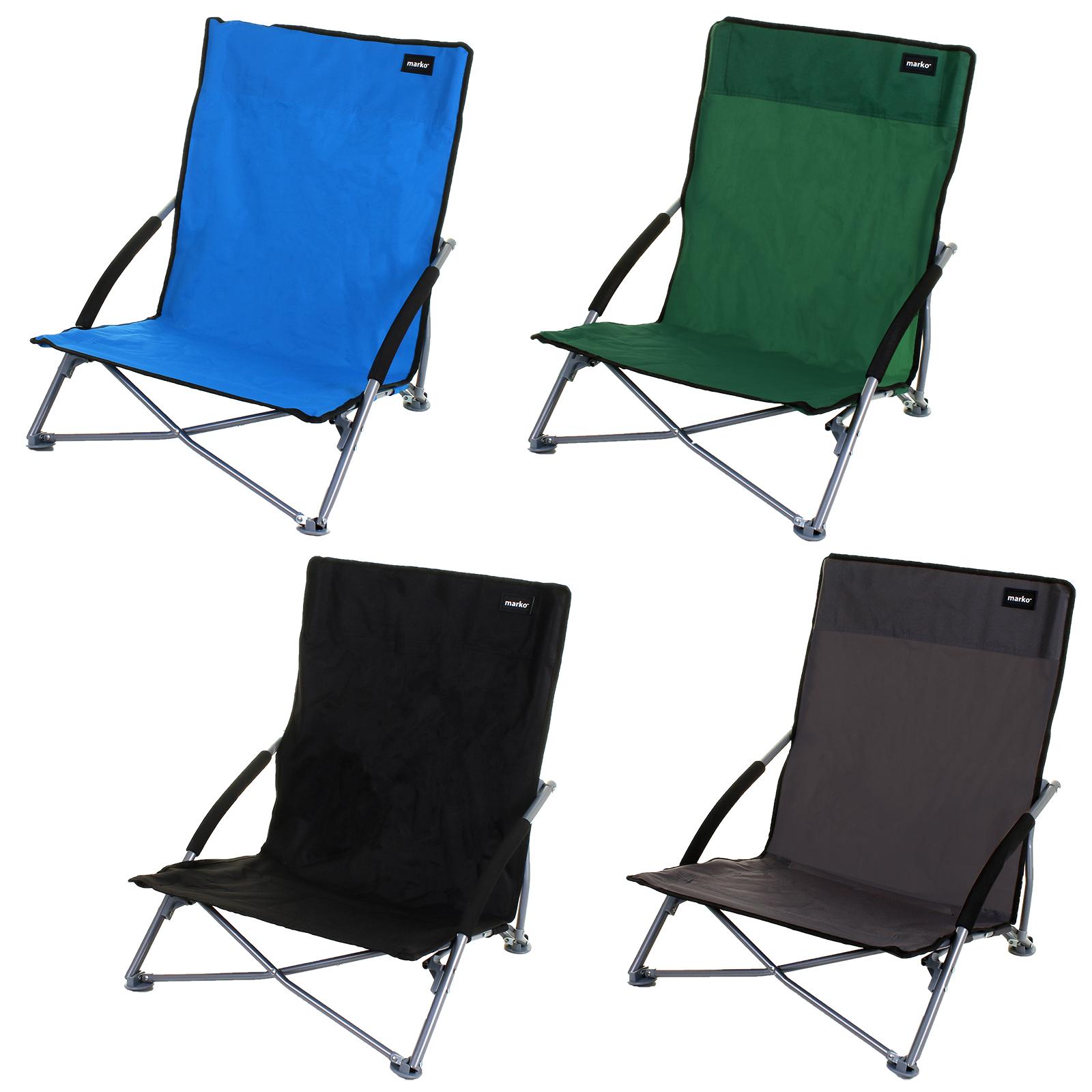 Folding Low Slung Beach Chair Outdoor Camping Festival Deck Relaxer Lightweight Ebay