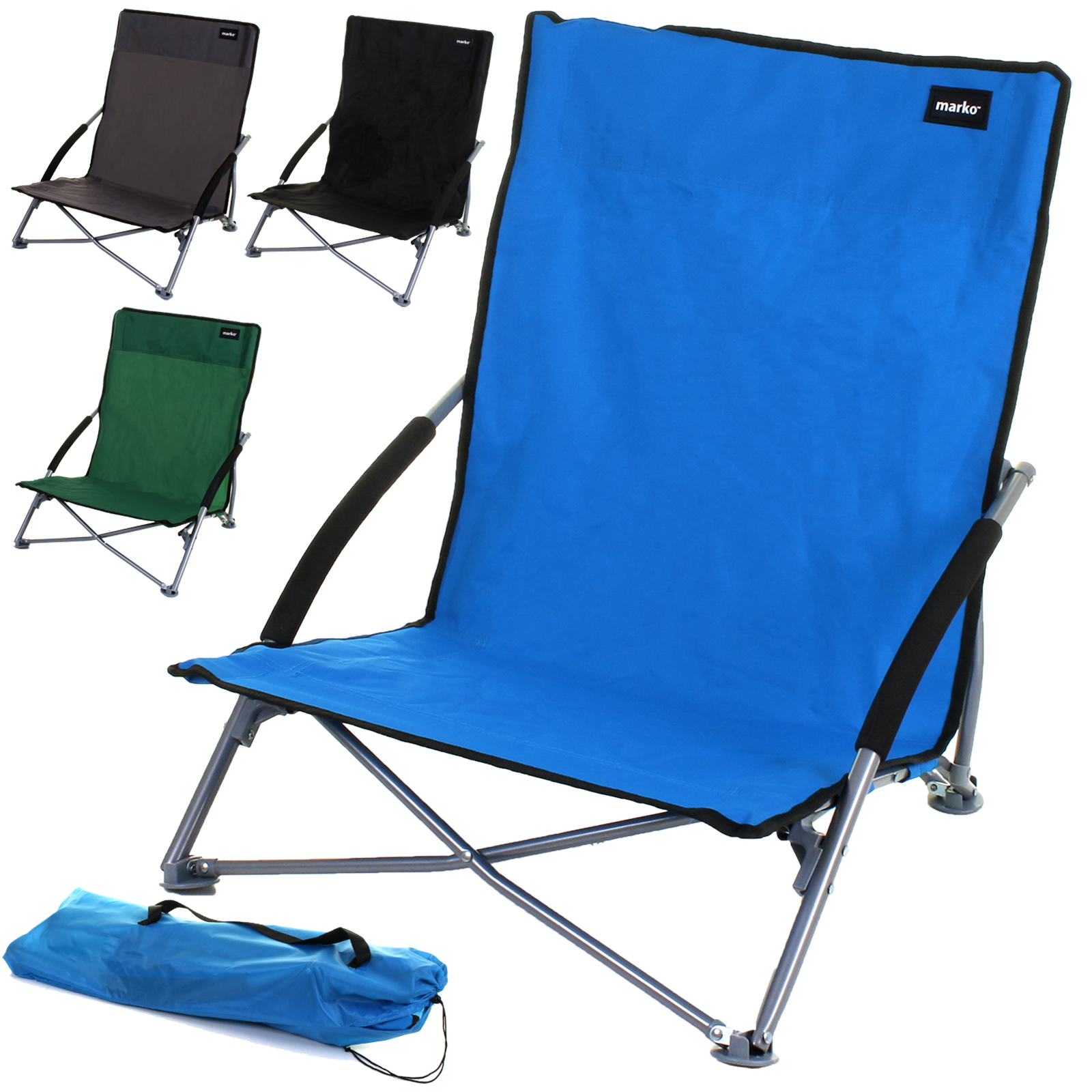 Details About Beach Chair Low Slung Folding Camping Festival Pool Picnic Deckchair Lounger New