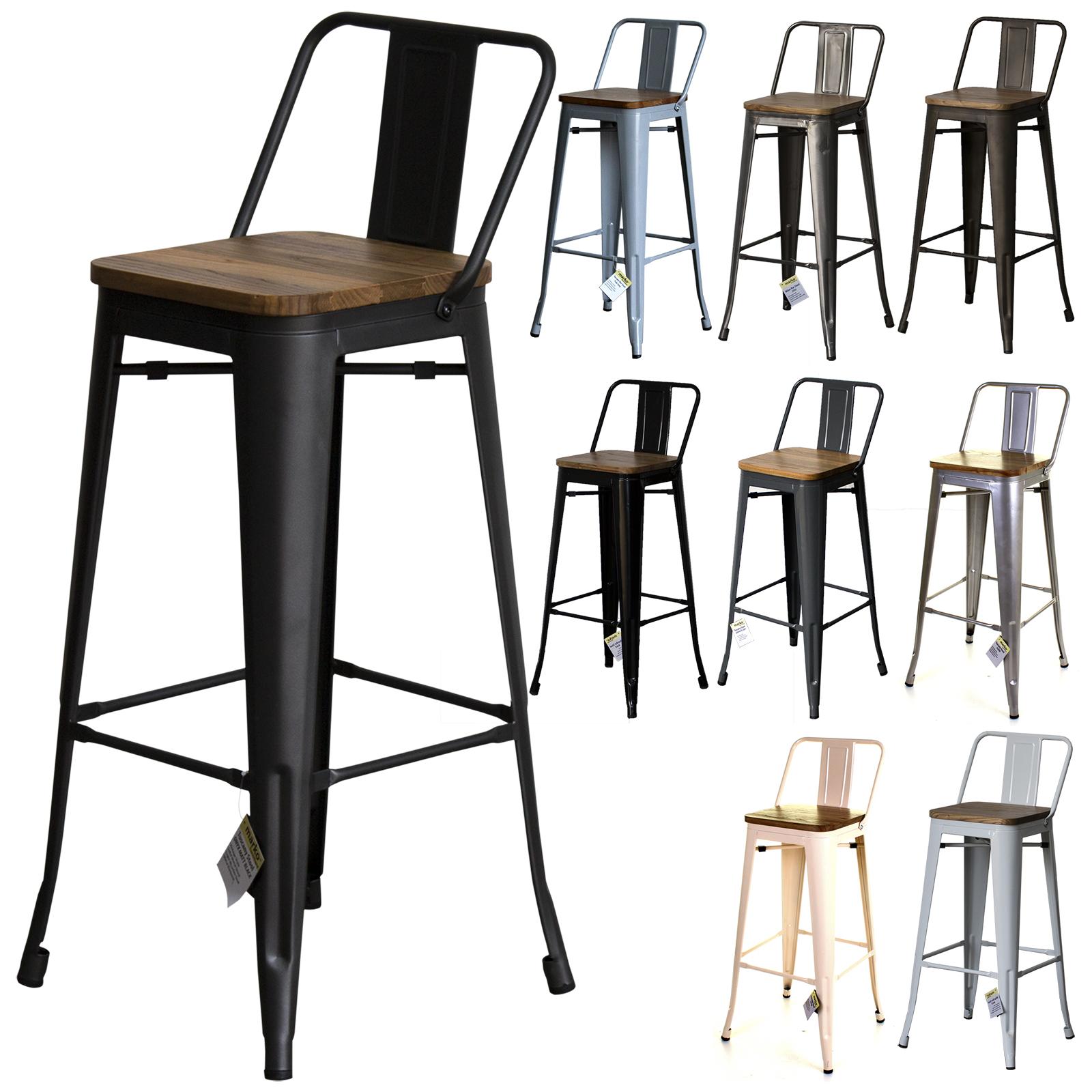 metal industrial bar stools breakfast kitchen bistro cafe