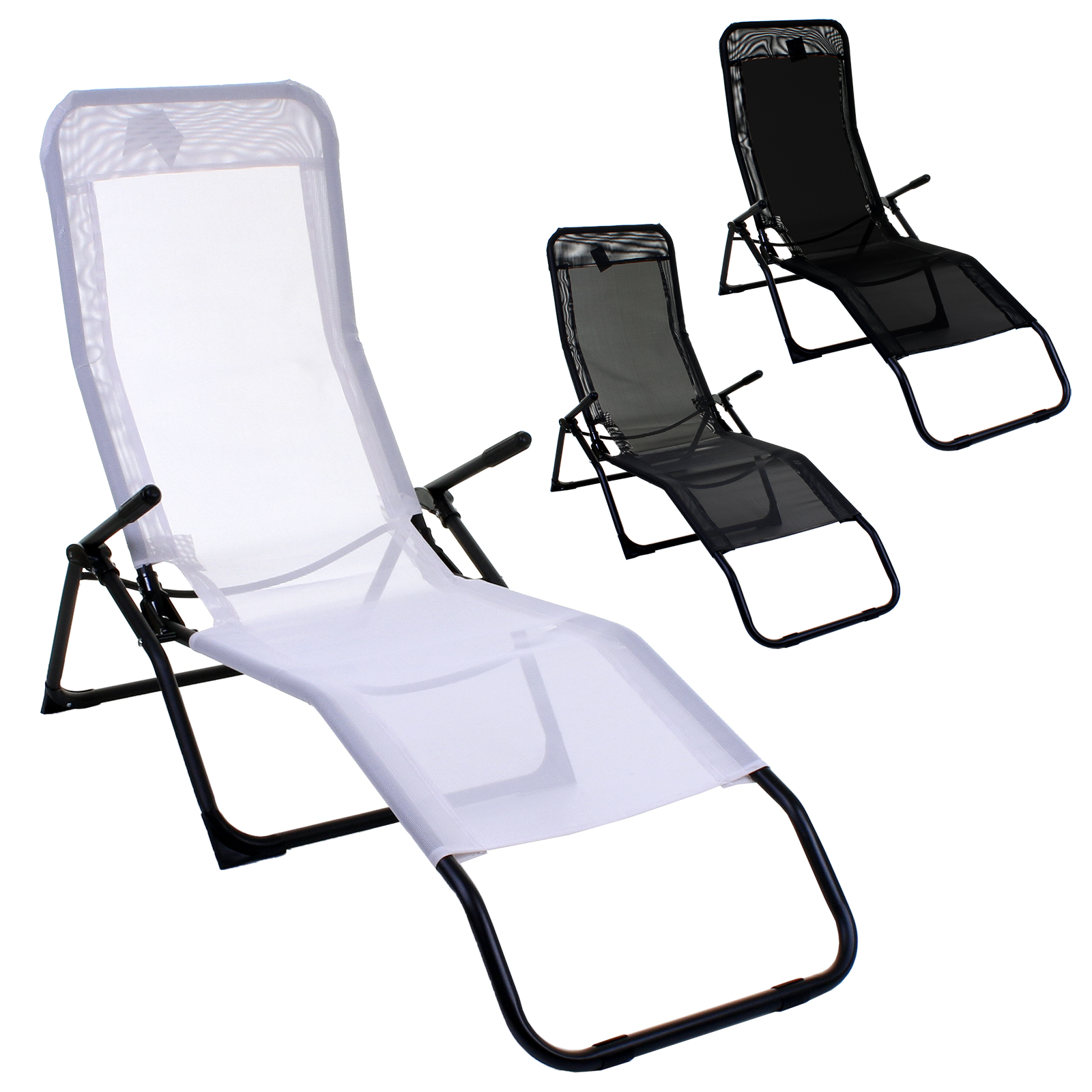 reclining sunlounger zero gravity rocker folding chair sun bed sun rh ebay co uk