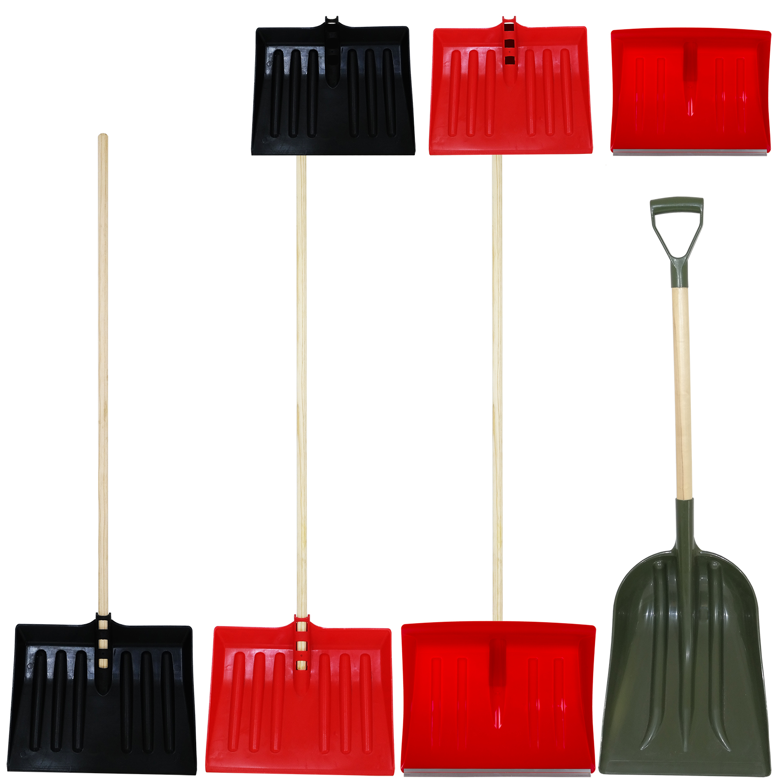 Details About Snow Shovel Pusher Scoop Wooden Handle Debris Spade Muck Mucking Out Metal Edged