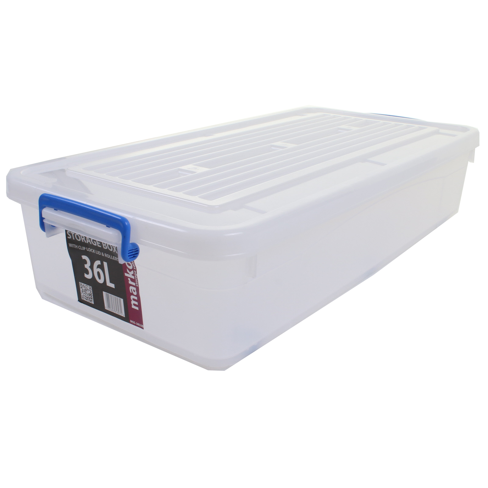 EXTRA LARGE HUGE STRONG PLASTIC STORAGE BOXES WHEELS CLIP ...
