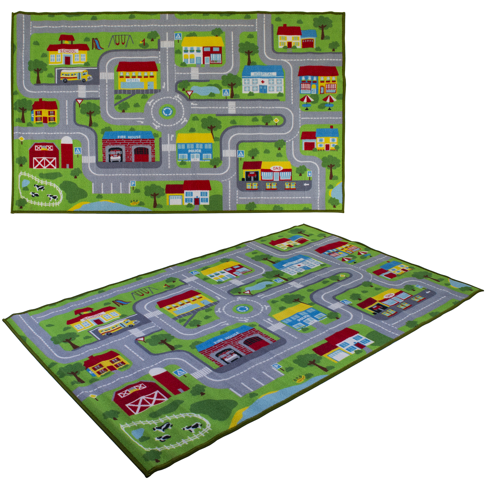 New Giant City Play Mat Wipe Clean With Damp Cloth Children Kids Game Playmat