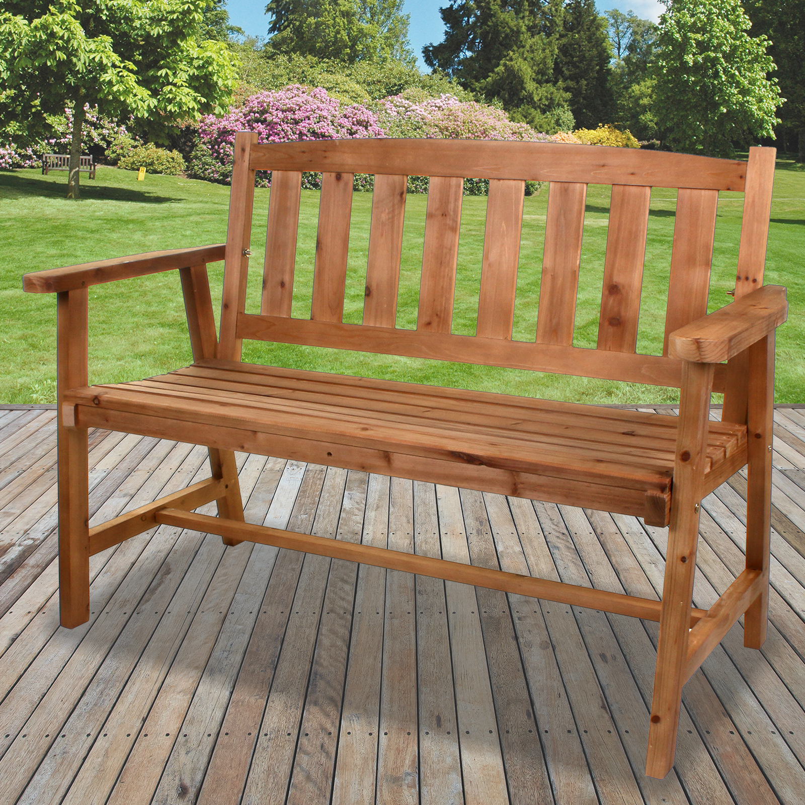 Excellent Details About 2 3 Seater Wooden Bench Outdoor Garden Patio Seating Large Classic Furniture New Squirreltailoven Fun Painted Chair Ideas Images Squirreltailovenorg