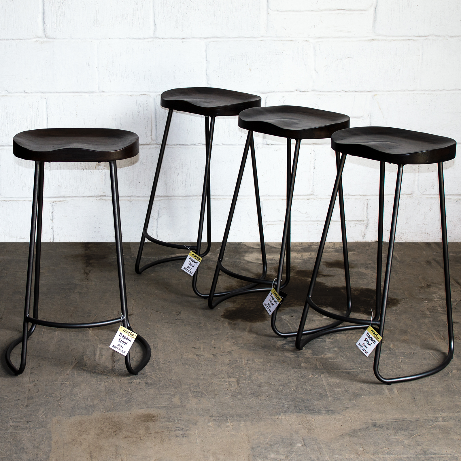 Amazing Details About Onyx Matt Black Industrial Vintage Rustic Bar Stool Dark Wooden Tractor Seat Gmtry Best Dining Table And Chair Ideas Images Gmtryco