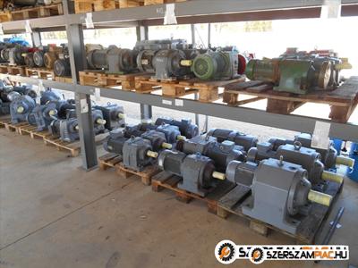 Használt és új ipari hajtóművek, hajtóműves villanymotorok és villanymotorok nagy választékban