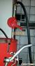 """BRM-89 """"PROFI"""" gázolaj szivattyú, ALUMÍNIUM, tekerős hordópumpa, 1""""-os alsó szűrővel (Gázolajra,és könnyű olajakhoz)"""