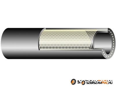 TEXTOIL 10 bar /  DN10  gumibázisú  olaj és üzemanyagálló tömlő  textilfonat erősítéssel