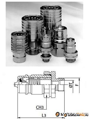 M18x1,5 külső menetes hidraulikus gyorscsatlakozó dugó