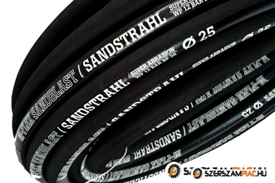 M-FLEX Sandblast 12 bar /  DN32  kopásálló tömlő homokfújó, porszóró gépekhez (SEMPERIT SM2 tömlő paramétereivel megegyezik.)