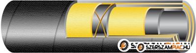 Sandblast KUM+ 12 bar /  DN38  kopásálló tömlő homokfúvó, porszóró gépekhez (SEMPERIT SM1 tömlő paramétereivel megegyezik.)
