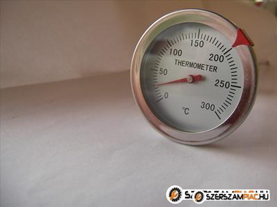 Kemence hőmérő sütő hőmérő 300 Celsius fok analóg