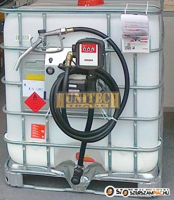 Használt IBC tartály, ADR-rel 1000 literes + S-50 12V. 1000M kit