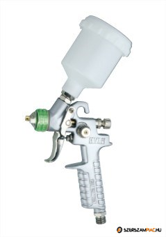 Professzionális H.V.L.P. festékszóró pisztoly, 0,25l műanyag tartály