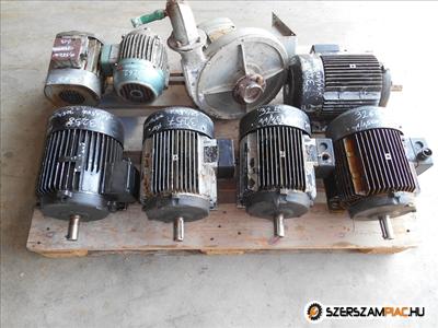 ATB dahlander villanymotor (azonosító: 3257-3261) teljesítmény: 1,1kW/1,5kW fordulat: 705/960