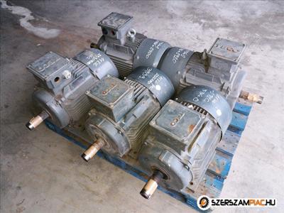 Teco villanymotorok  (azonosító: 3338-3342) méret: 160M teljesítmény: 11 kw kimenő fordulat: 2930