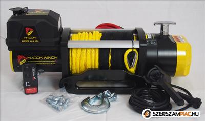Macon Winch 6t gyors csörlő 10 év garancia Yellow Hawk 13.0