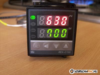 PID kemence hőfokszabályzó 1250 'C szenzor hőfokszabályozó